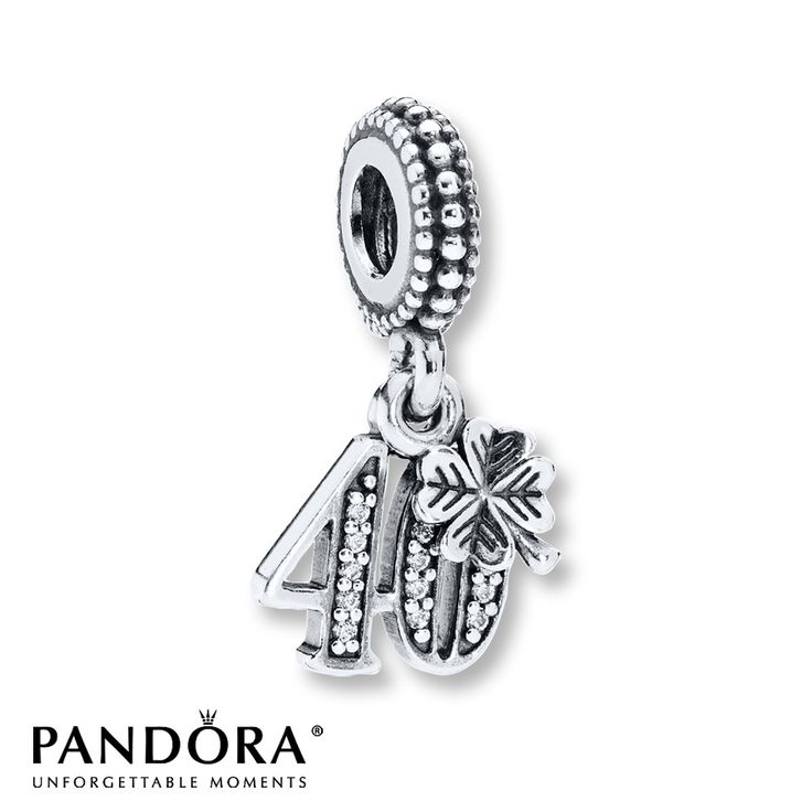 Pandora Dangle Charm 40 Years Of Love Sterling Silver