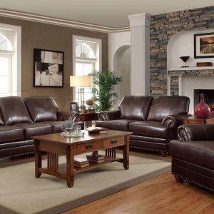 Living Room Decorating Ideas Dark Brown Leather Sofa