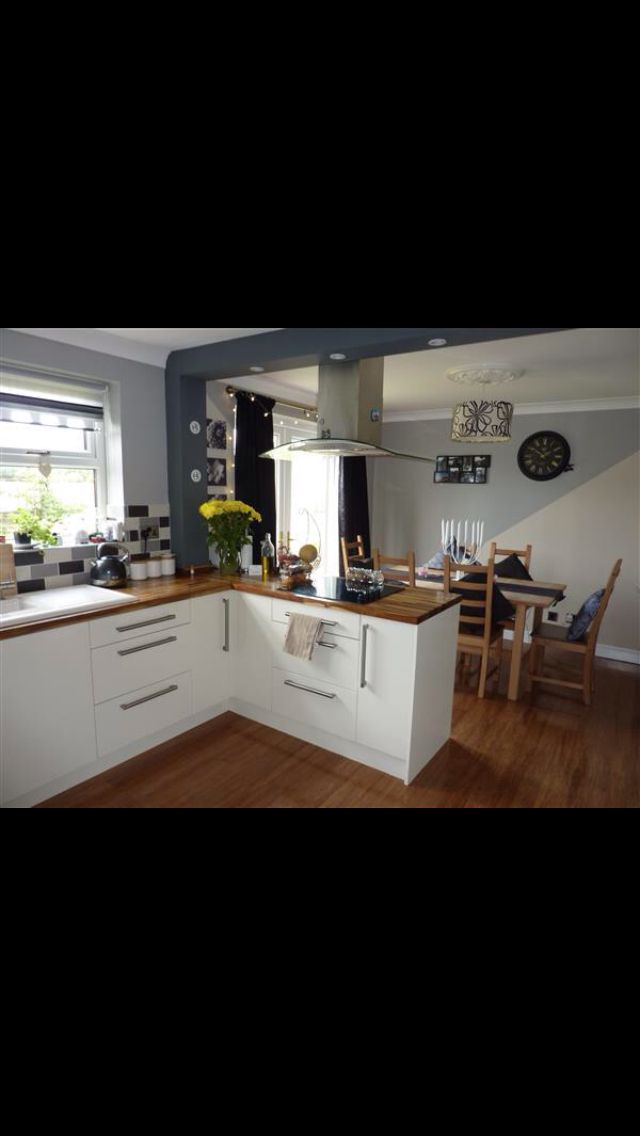 Kitchen diner knocked through inspiring ideas small - Designs for kitchen diners open plan ...