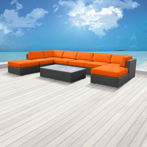 Luxxella Outdoor Patio Wicker MALLINA Sofa Sectional Furniture 9pc All Weather Couch Set ORANGE Luxxella http://www.amazon.com/dp/B00CI0PFQO/ref=cm_sw_r_pi_dp_bYSXtb0YD5Z1YRP5
