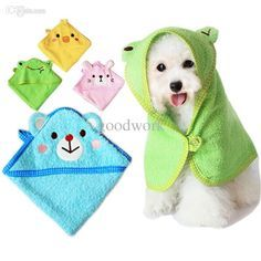 Encontra o melhor  Atacado-Soft Cão De Estimação Bonito Dos Desenhos Animados Pijama Cão Roupão De Banho Multifunções Absorvente Animal De Estimação Toalha De Banho De Animais Cachorro Gato Cobertor Quente Suprimentos Para Animais De Estimação em preço de venda por atacado de Camas e acessórios Do cão fornecedores Chineses goodwork em pt.dhgate.com.