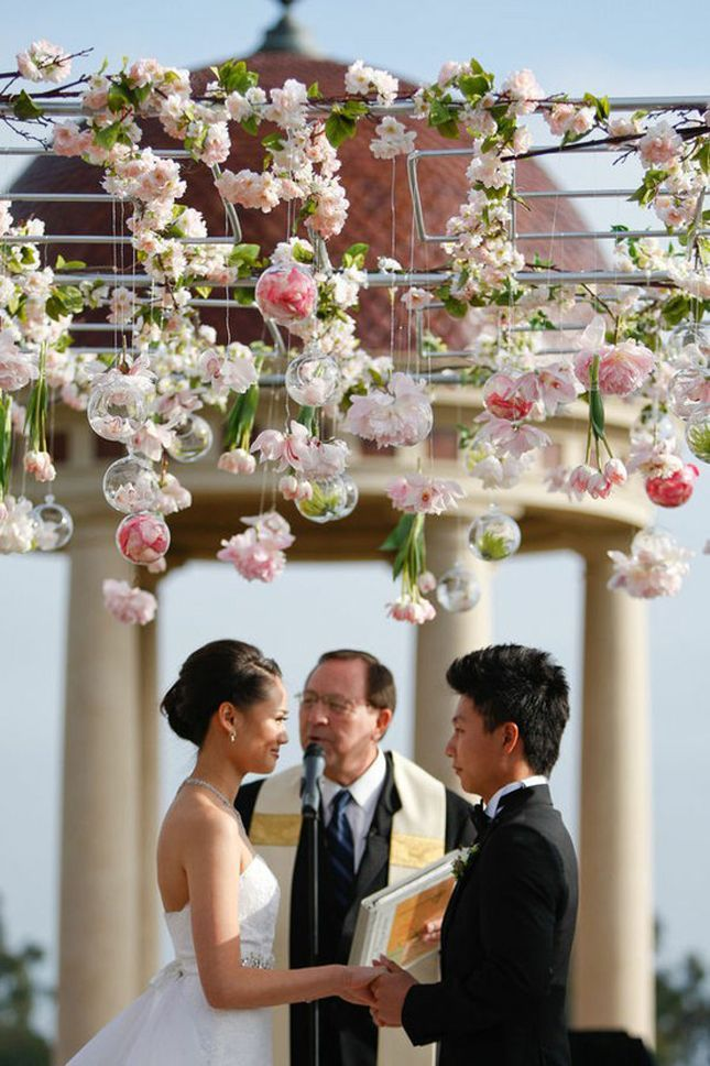 See More Ideas: http://thebridaldetective.com/trends-we-love-hanging-wedding-decor
