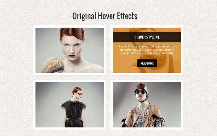 Original Hover Effects with CSS3