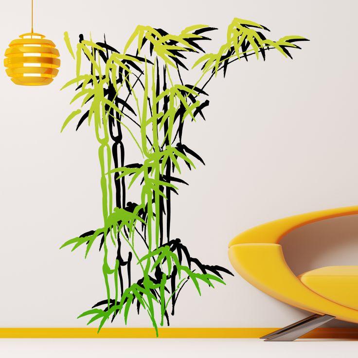 sticker bambou avec son ombre, idéal pour un côté zen!