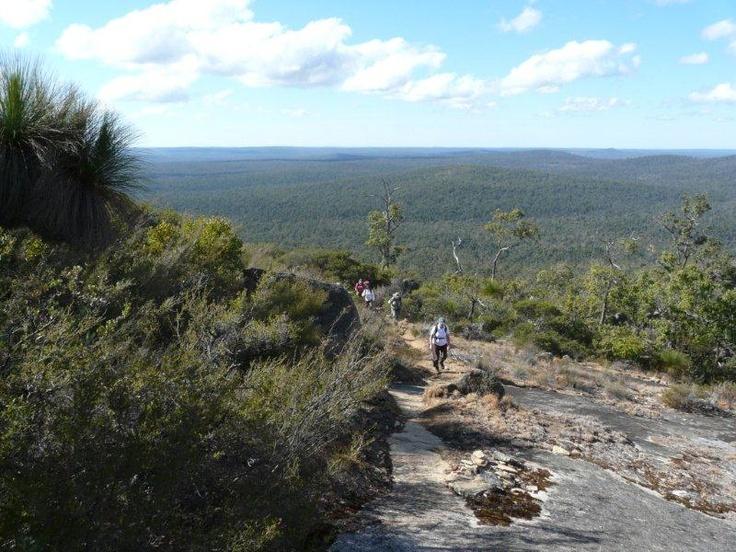 Walking up Mount Vincent