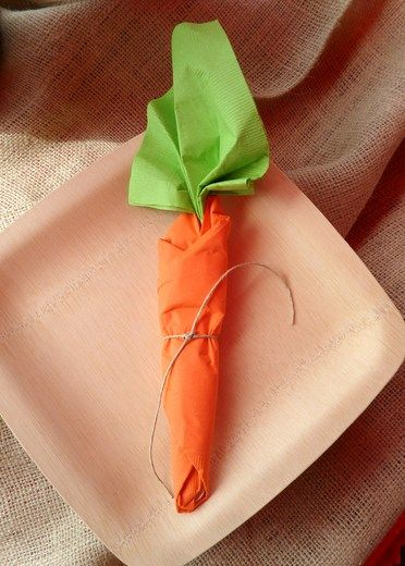 carrot napkin wraps