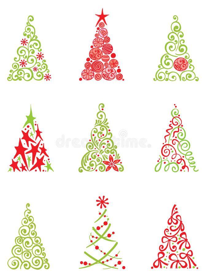 Download Set Of Modern Christmas Trees Stock Vector - Image: 21558434 - Download Set Of Modern Christmas Trees Stock Vector - Image