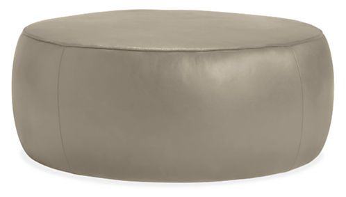 Lind Round Leather Ottomans - Ottomans - Living - Room & Board 42""
