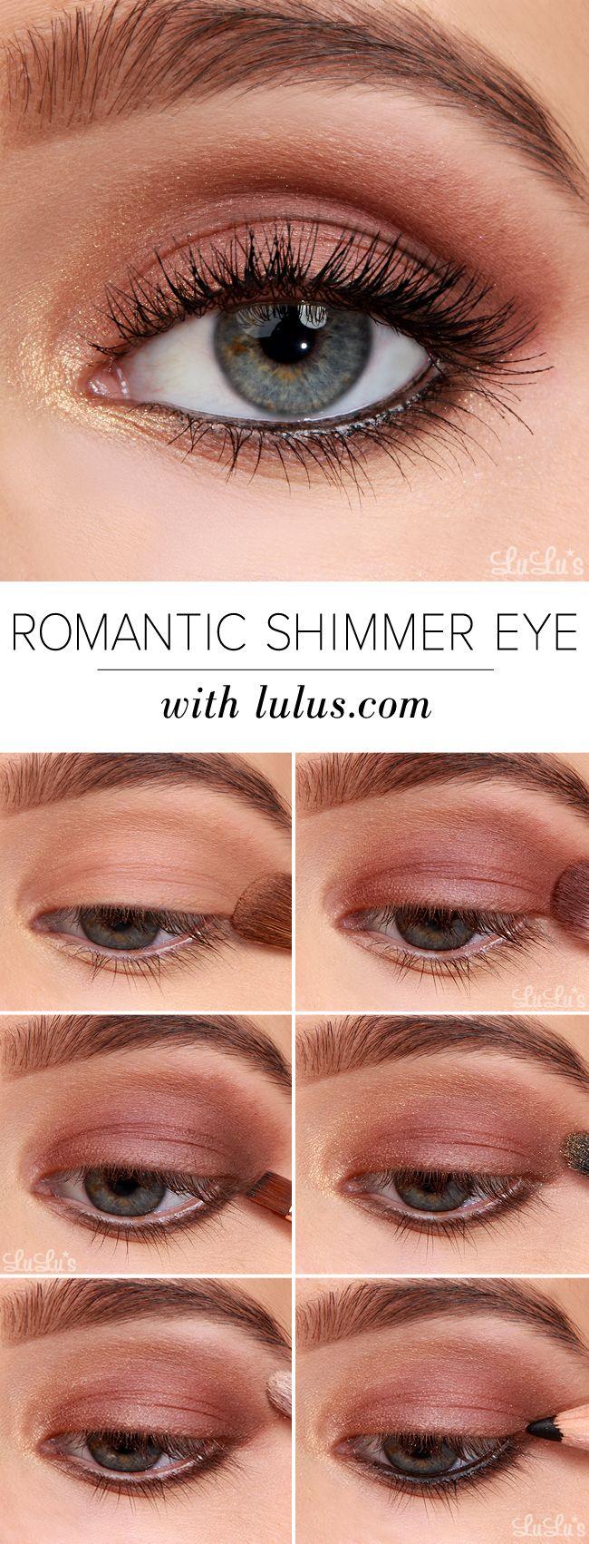 How-To: Romantic Shimmer Eyeshadow Tutorial #makeup #eyeshadow