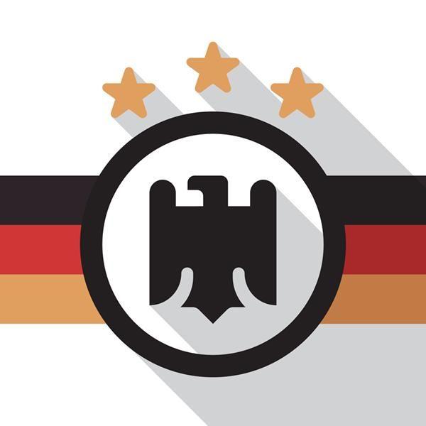 minimalist Germany soccer team crest by Daniel Nyari
