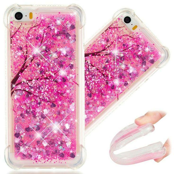 Apple iPhone 5S Case 3D Cute Painted Glitter Liquid Sparkle ...