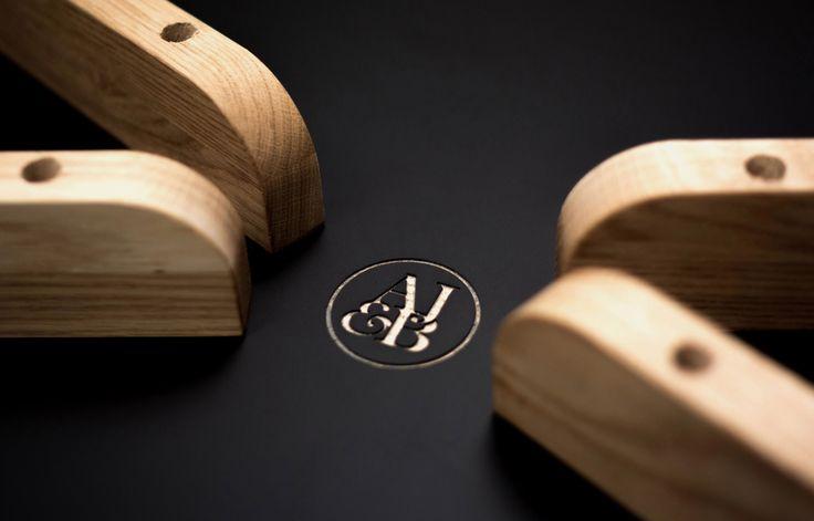 Aldworth James & Bond | Solid oak table by AJ&B Makes - logo detail