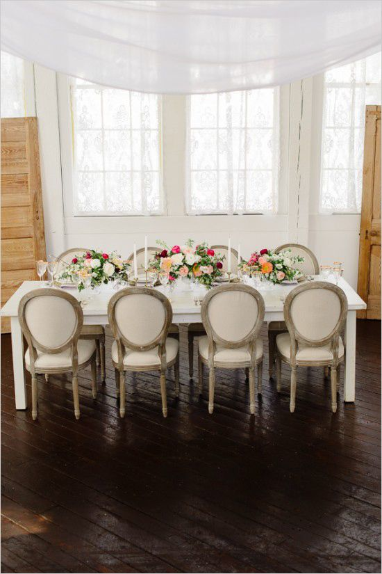 Intimate spring bridal shower ideas. Event Designer: The Little Things