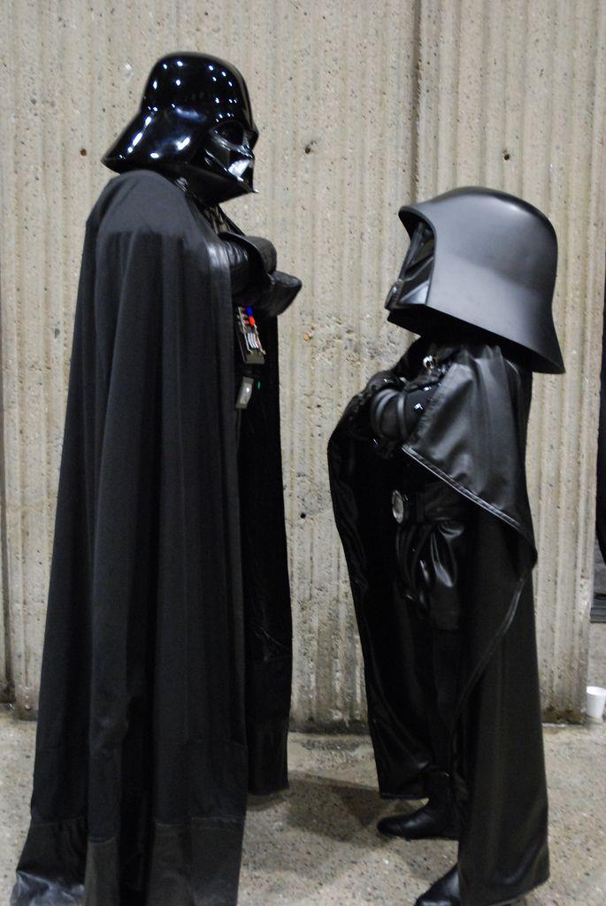 Showdown: Darth Vader (Star Wars) vs. Dark Helmet (Space Balls). View more EPIC cosplay at http://pinterest.com/SuburbanFandom/cosplay/