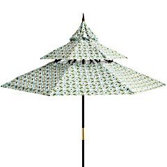 Pier 1 Geometric Pagoda Umbrella Inspired By The Tiered Roof Lines Of Asian  Architecture
