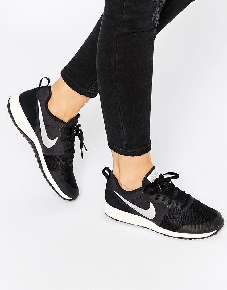Imagen 1 de Zapatillas de deporte en negro y plateado Elite Shinsen de Nike