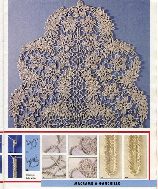 Romanian Point Lace crochet tablecloth from the April 1992 issue of Anna Burda needlecrafts magazine