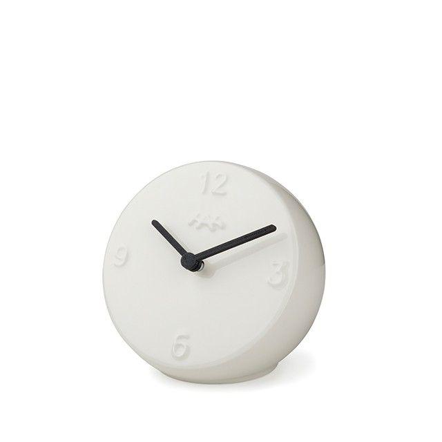 Ora Table Clock White/Black