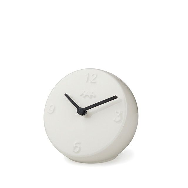 Ora Table Clock White/Black