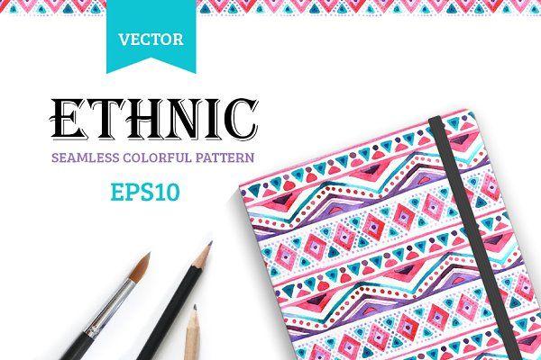 Seamless colorful aztec pattern. - Patterns
