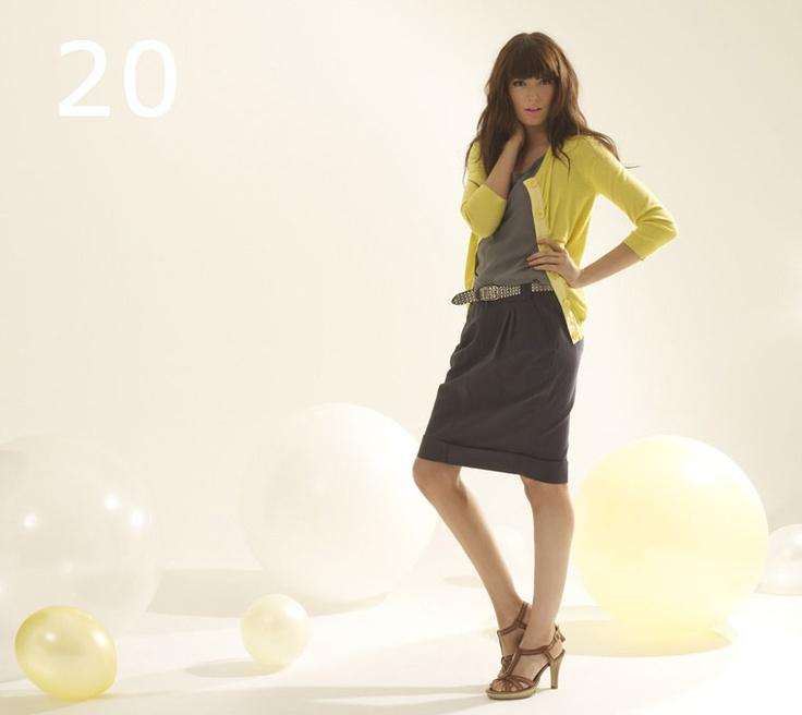 lemon yellow+gray+black: Grayskirts Gray, Ramirez701 Grayskirts, Yellow Cardigan, Reedkhloe55 Grayskirts, Style Pinboard, Pencil Skirts, Gray Skirt, My Style