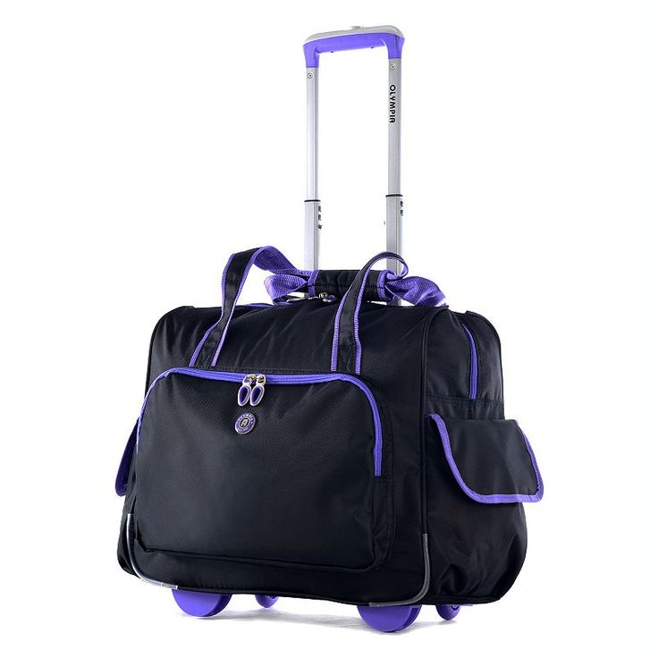 Olympia Rave 15-Inch Laptop Wheeled Overnighter Bag, Adult Unisex, Size: Xs Carryon, Purple