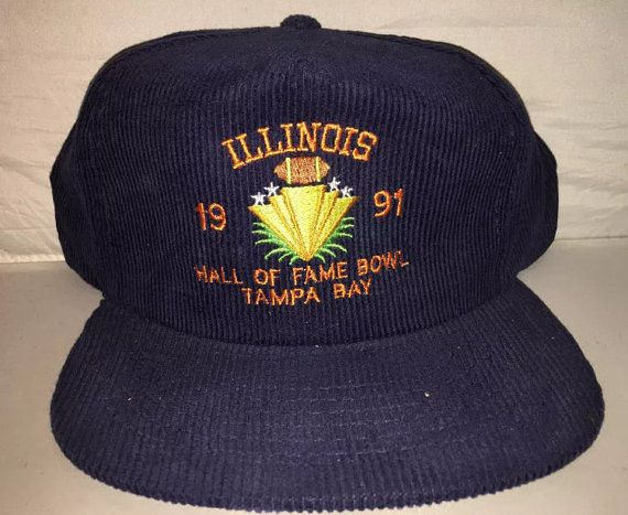 meet bfff5 45cea Vintage 1991 Illinois Hall of Fame Bowl Snapback hat from the 90s.