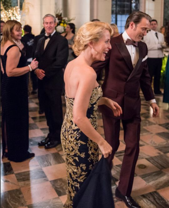 Behind the Scenes. Hannibal. Gillian Anderson