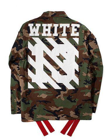 off-white c/o field camo jacket   virgil abloh