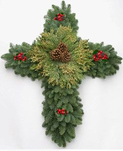 cross wreath 24 x 28 $ 54 95 our custom cross wreath is made with ...