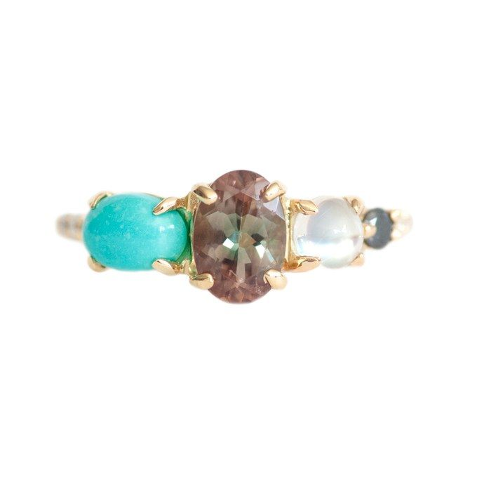 Engagement Rings with Colorful Stones | Brides