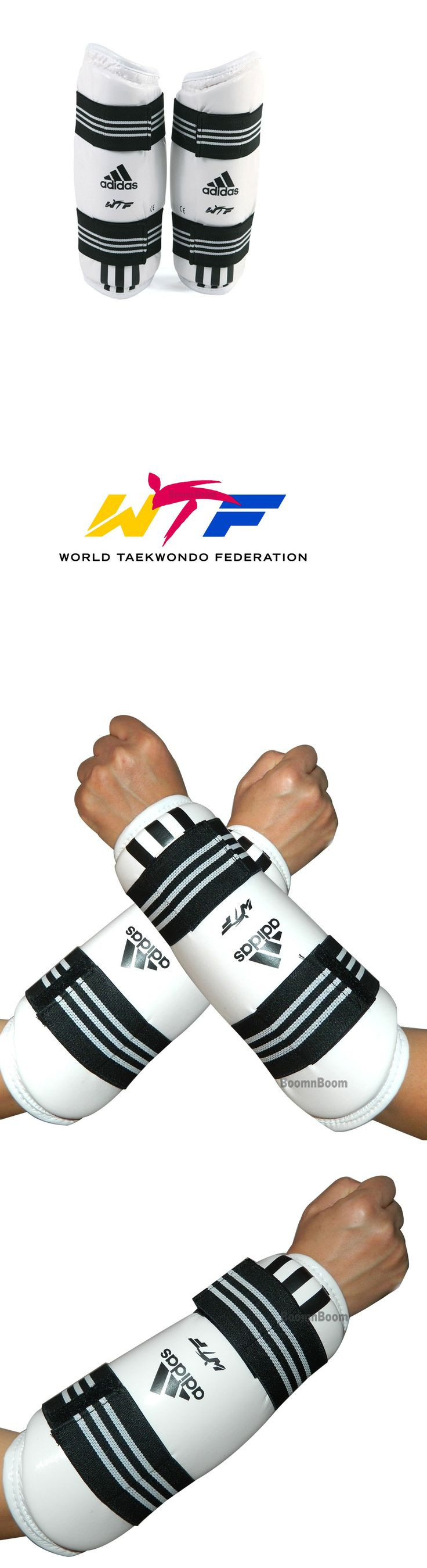 Elbow Knee and Ankle Guards 179777: Adidas Taekwondo Karate Mma Forearm Protector, Arm Guard Taekwondo Sparring Gear BUY IT NOW ONLY: $31.99