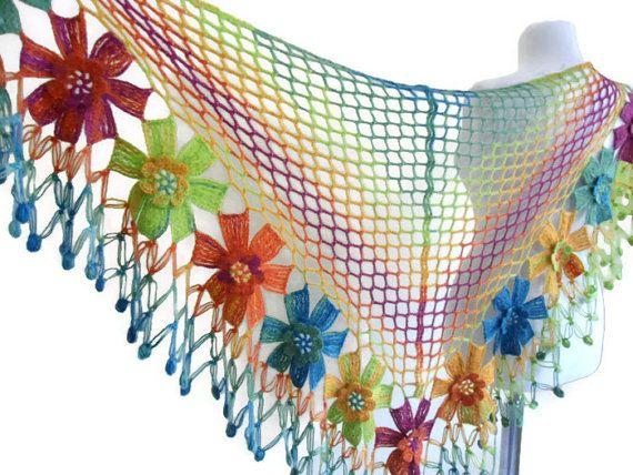 crochet flower shawl crochet shawl wedding bride por likeknitting