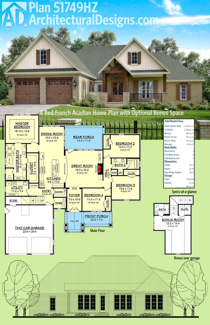 25 best ideas about acadian homes on pinterest house plans 4 bedroom house plans and acadian - Semi basement house plans multifunctional spaces ...