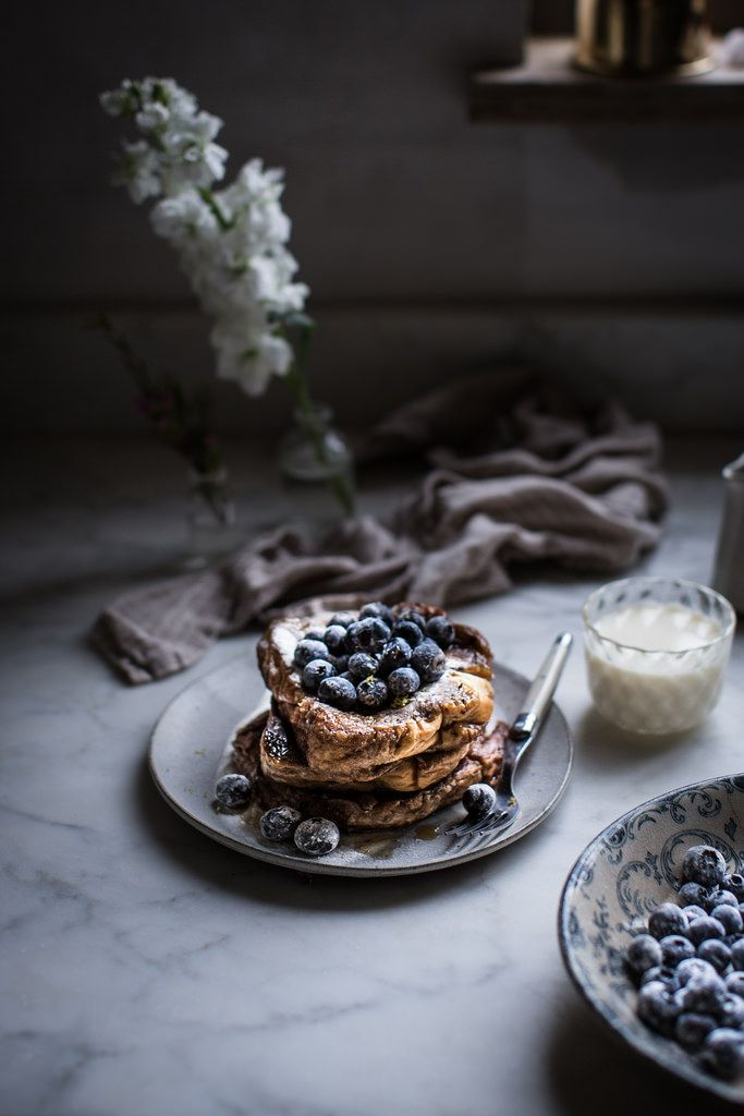 Local Milk   london fog french toast + sugared blueberries