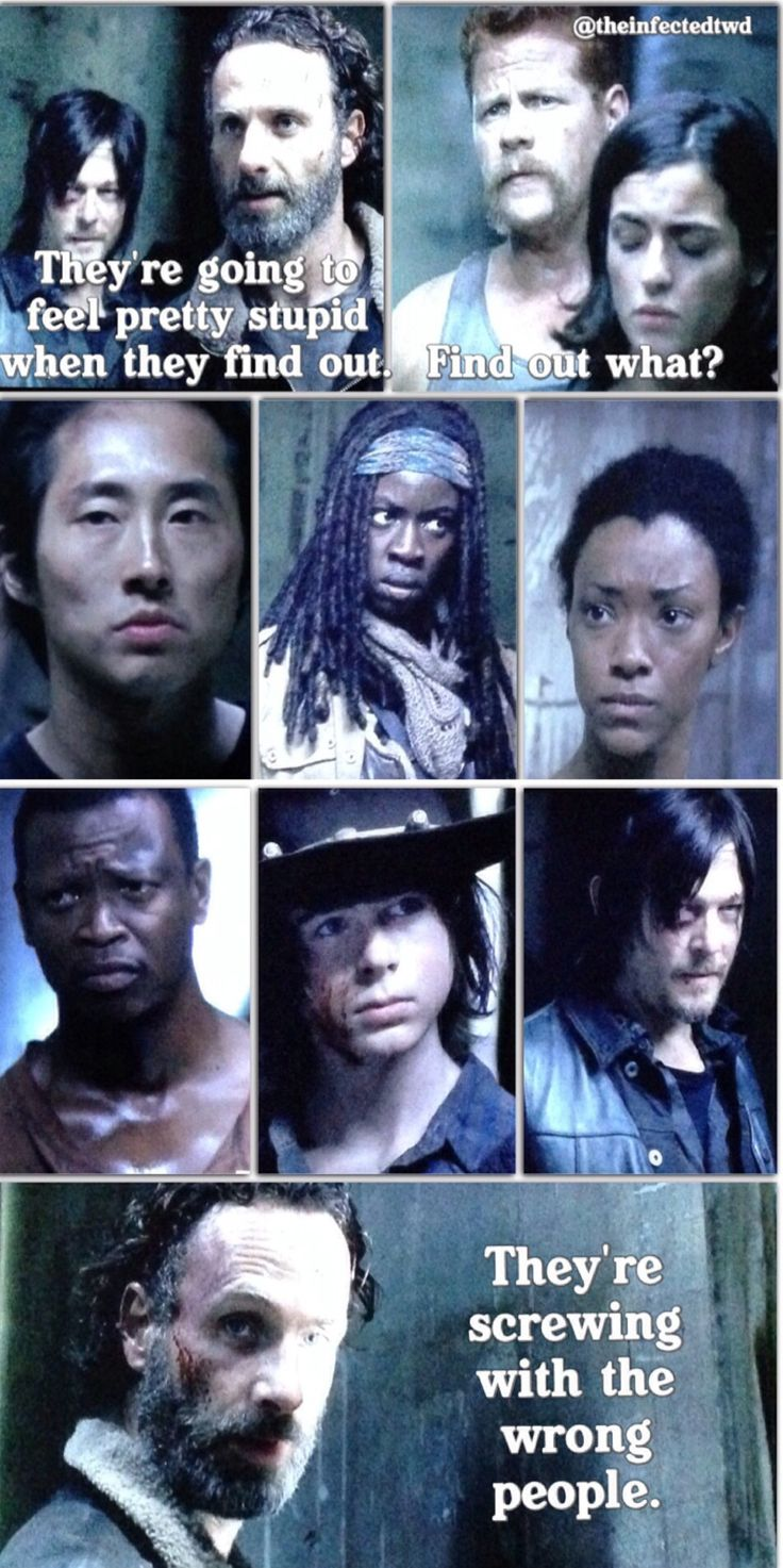 TWD. The Walking Dead. They're screwing with the wrong people. Rick Grimes. Daryl Dixon. Terminus.