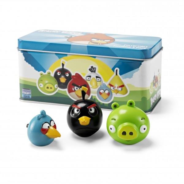 Angry Birds - Figurine Set Green Pig, Black & Blue Bird