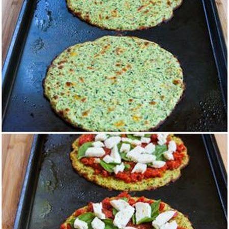 Zucchini Crust Vegetarian Pizza Margherita