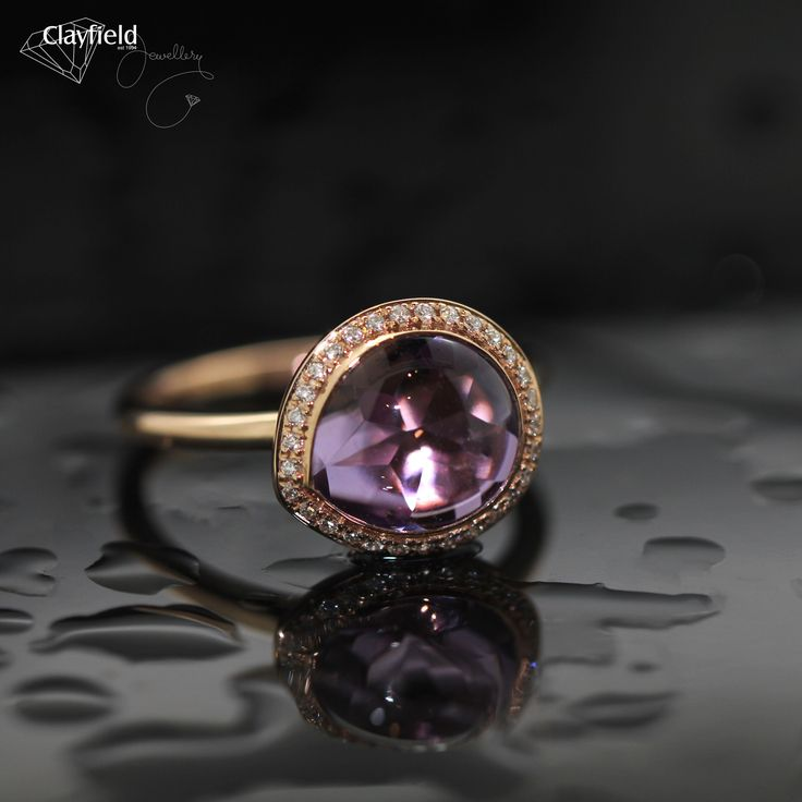 Amethyst and diamond ring, absolutely stunning.