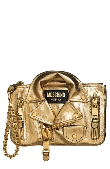 Moschino 'Leather Jacket' Wristlet available at #Nordstrom