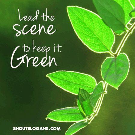 going-green-slogan