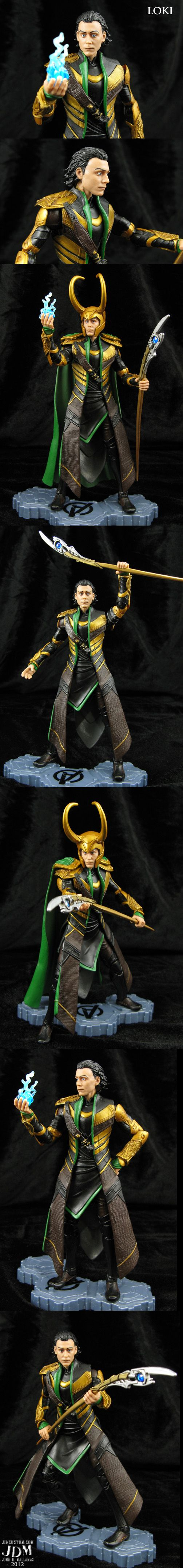 Custom Avengers Movie Loki with wispy hair tips by Jin-Saotome.deviantart.com