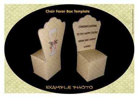 Chair Favor Box Template on Craftsuprint designed by Alison Sulley ...