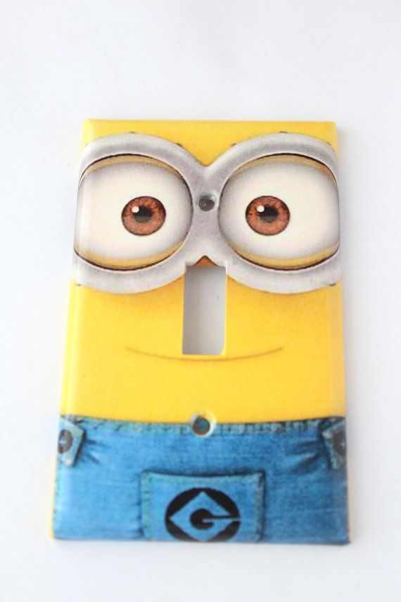 Minion Despicable Me Disney Light Light Switch Cover Wall Plates Single Switchplate Kids Bedroom Decor
