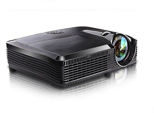 Deeirao DLP Ultra Short Throw Home Theater 3D Projector 300inch Mini Portable 6500Lumens HDMI 1080P Full HD for Church School Office T755st Black