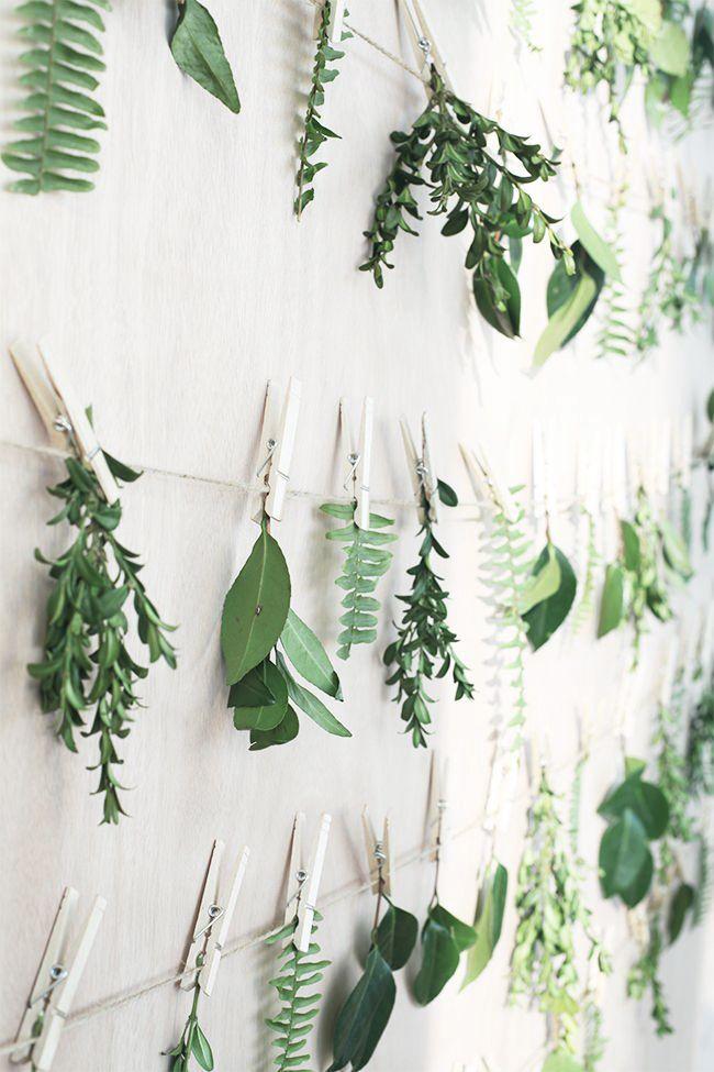 Blad och växter som dekoration