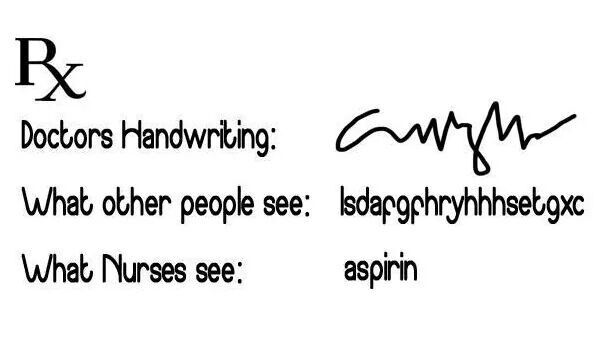 Image result for doctor handwriting meme