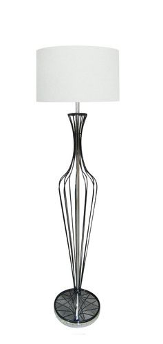 ZUMA LINE LAMPA PODŁOGOWA HUGO 1x60W E27 230V TS-120630F-BKWH BIAŁY Kolory Światła