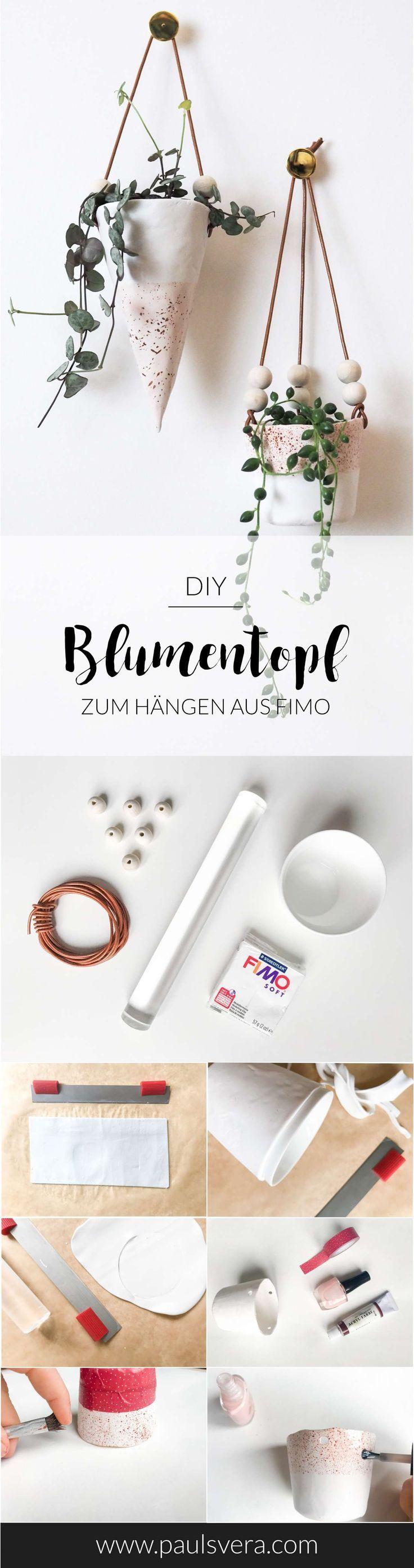 DIY Deko: Stylischer Blumentopf Aus Fimo Ganz Einfach Selber Machen! Ein  Wunderbares Selbstgemachtes Geschenk