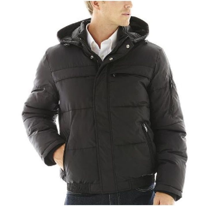 Details About Claiborne Men S Jacket Puffer Hooded Coat